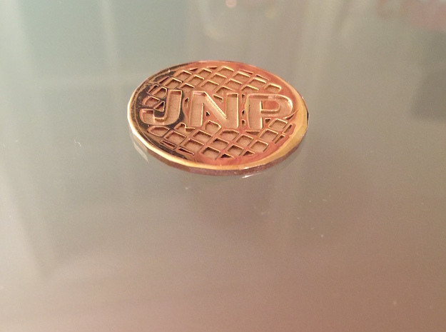 Personalized Golf Ball Marker in Polished Brass