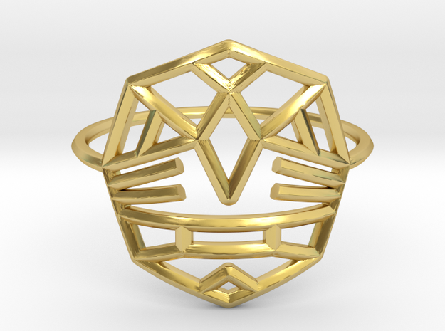Fearless Warrior Ring (Medium) in Polished Brass