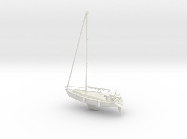 Sailboat 01 full hull.HO Scale (1:87)