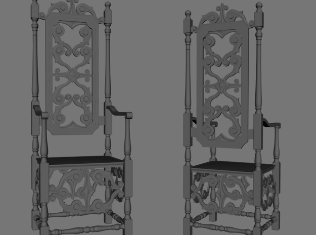 Gothic Chair in Black Strong & Flexible