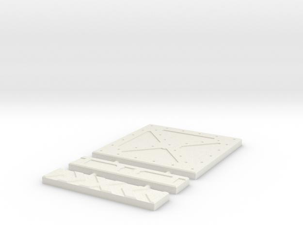 SciFi Tile 10 - Cross Plate in White Natural Versatile Plastic