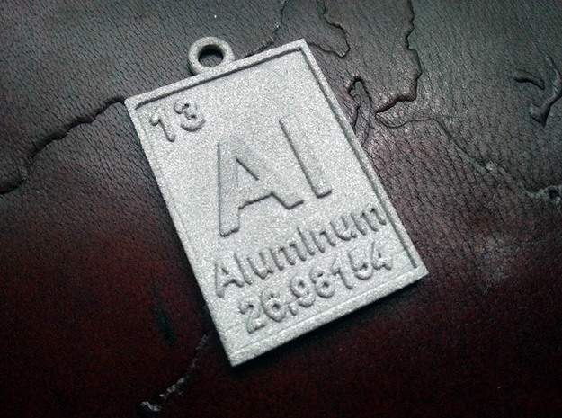 Aluminum Periodic Table Pendant in Aluminum