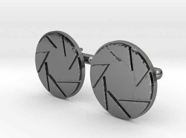 APETURE CUFF LINKS in Fine Detail Polished Silver