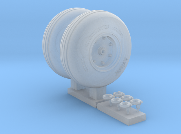 3501 - 1/35 MH-60/SH-60/UH-60 main wheels for Acad in Smooth Fine Detail Plastic