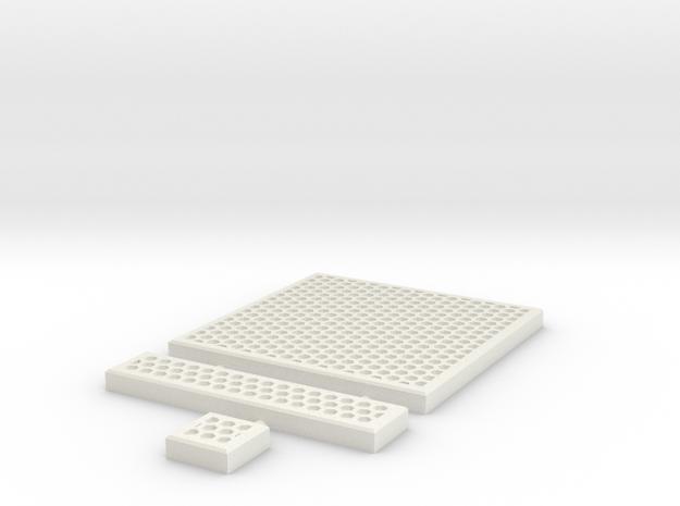 SciFi Tile 08 - Hex Grating in White Natural Versatile Plastic