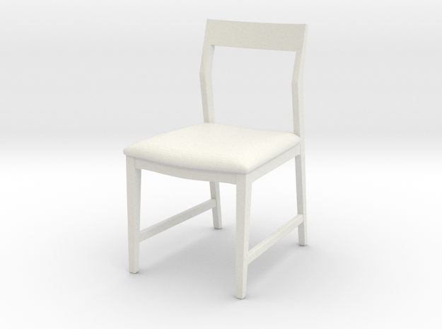 1:24 Danish Modern Chair in White Natural Versatile Plastic