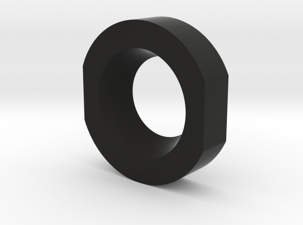 Shoulder Clip Locking Ring  in Black Natural Versatile Plastic
