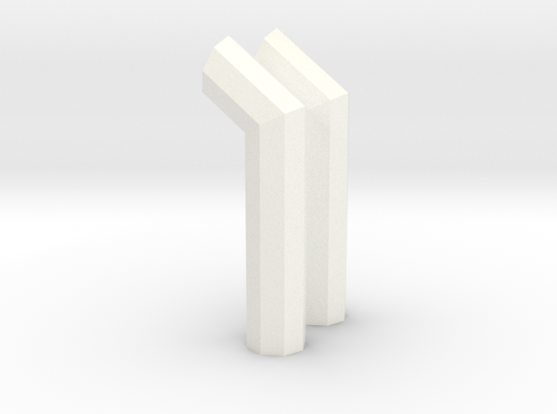 1/64 8 side turn out stack in White Processed Versatile Plastic