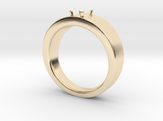 6x4mm Em Cut Size 12 in 14K Yellow Gold