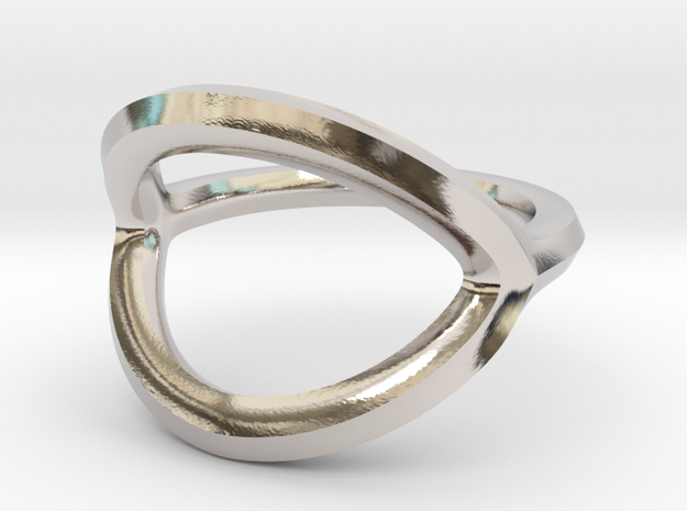 Arched Eye Ring Size 8.5 in Platinum