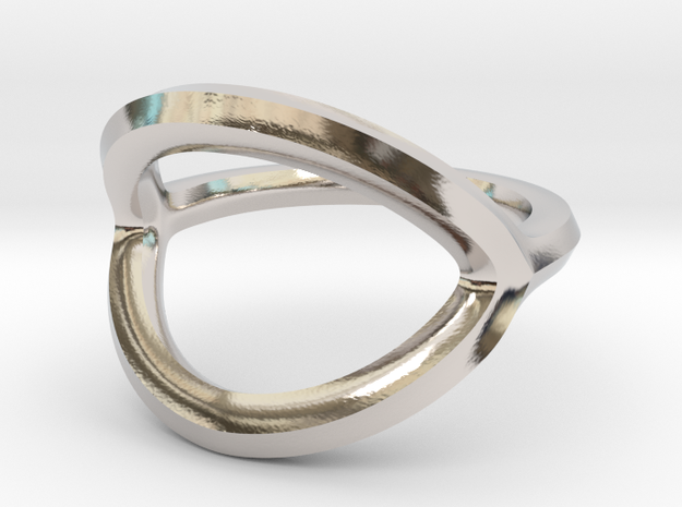 Arched Eye Ring Size 11.5 in Platinum