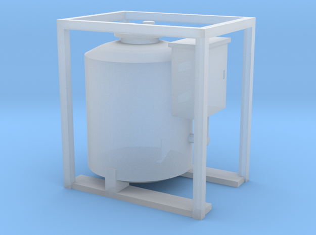 HO - Small Diesel Tank in Smooth Fine Detail Plastic