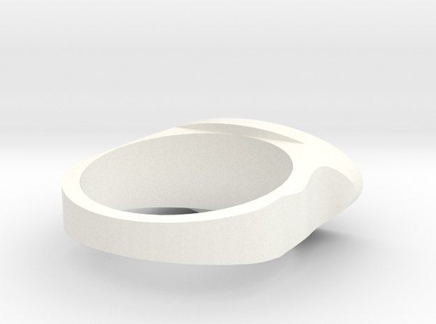Ring Model 2 18.5mm in White Processed Versatile Plastic