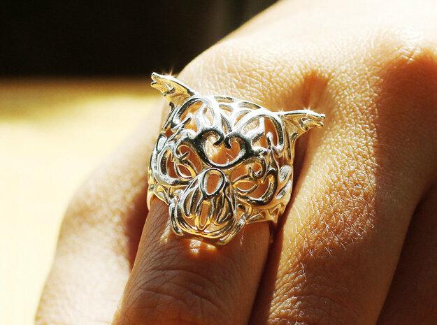 Zodiac Tiger Ring - Silver Tiger Ring, Size 6.5