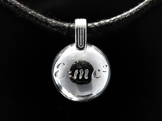 E=mc2 in Rhodium Plated Brass
