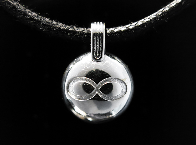 Infinity in Rhodium Plated Brass