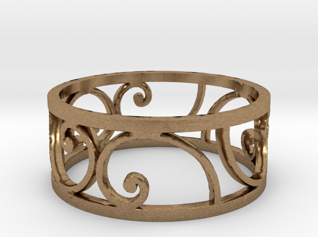 Golden Spiral Ring Size 7 (6 Flipped) in Natural Brass