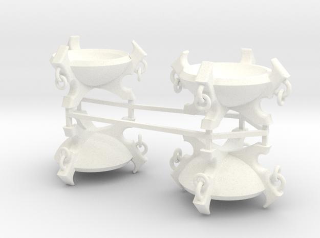 Braziers X4 in White Processed Versatile Plastic