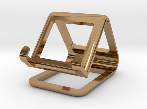 Minimalistic Stand in Polished Brass