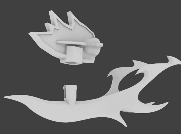 TFP Voyager Beast King Tail/Sword Complete 3d printed just plug it in!