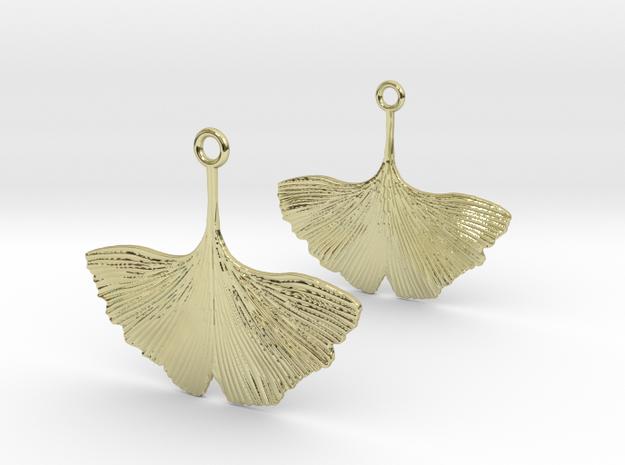 Ginkgo Leaf Earring in 18k Gold Plated Brass