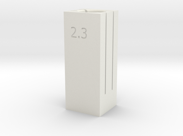6/9 Tube Cutter 2.3/2.4 Dual Depth in White Natural Versatile Plastic