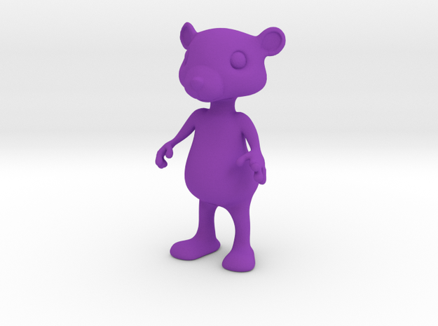 Tiny Bear in Purple Processed Versatile Plastic