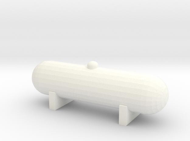 Propane Tank (1:87) in White Processed Versatile Plastic