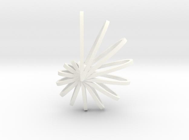 Nautilus Shell Pendant in White Processed Versatile Plastic
