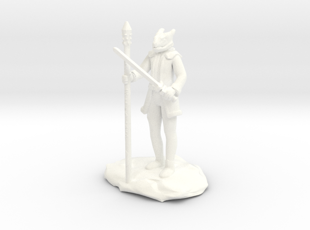 Dragonborn Ice Sorcerer in White Processed Versatile Plastic