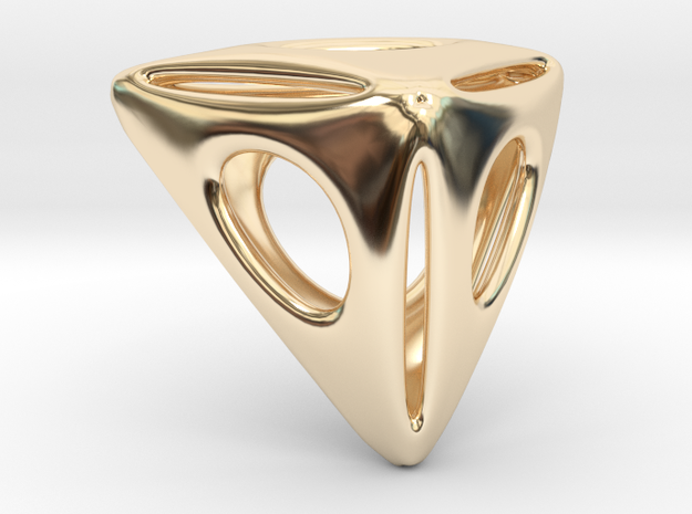 Triangle Pendant in 14K Yellow Gold