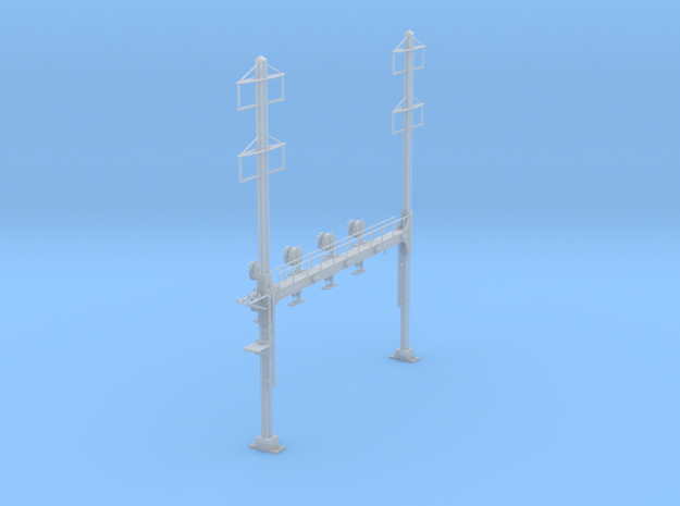 CATENARY PRR BEAM SIG 4 TRACK 2-2PHASE N SCALE  in Frosted Ultra Detail
