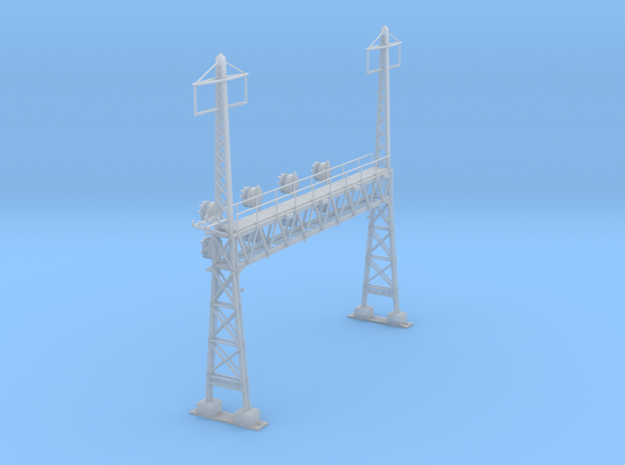 CATENARY PRR LATTICE SIG 4 TRACK 2 PHASE N SCALE  in Smooth Fine Detail Plastic