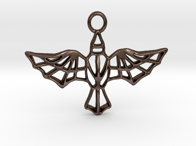 AETHON pendant in Polished Bronze Steel