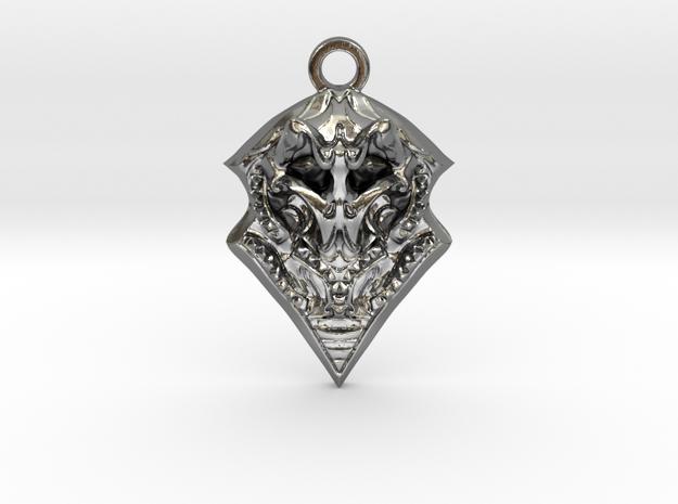 BORO pendant  in Polished Silver