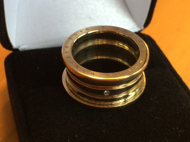 Engagement Ring - MEA FORTUNA IN MANIBUS TUIS in 14K Gold