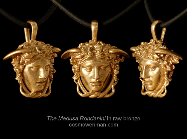 Medusa Rondanini pendant in Raw Bronze