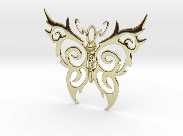 Butterfly Pendant in 18k Gold Plated