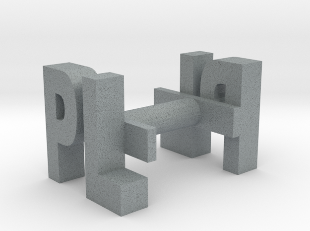 CUFF LINK (custom made with your initials) 3d printed