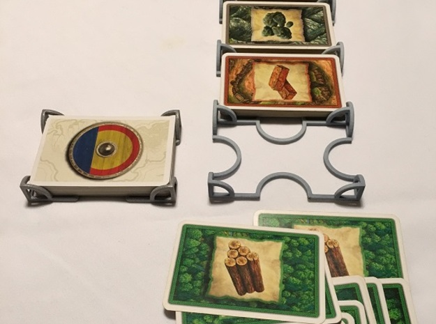 Catan Five Deck Card Holder in White Strong & Flexible