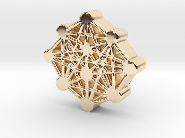 Ten Sefirot Molecule in 14K Gold
