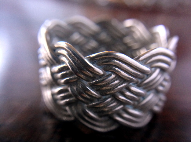 Turk's Head Knot Ring 6 Part X 10 Bight - Size 10