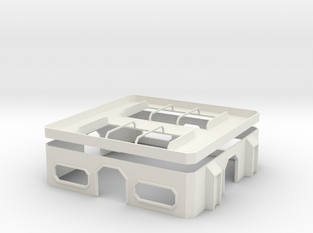 15mm Hub Building in White Strong & Flexible