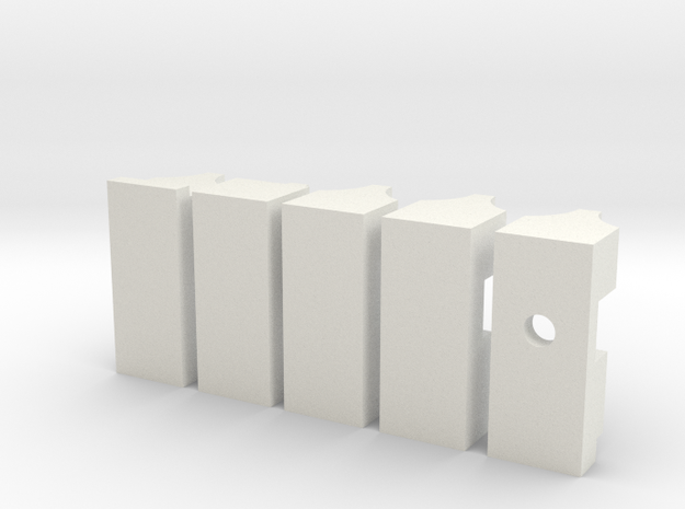 DV - ESB Chestbox - Greebles in White Natural Versatile Plastic