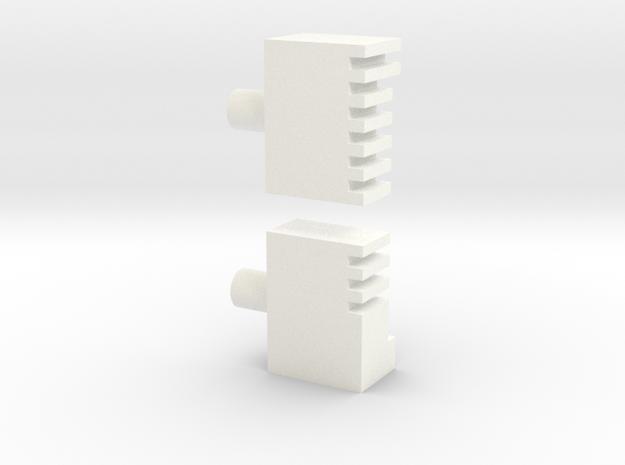 DV - ESB Chestbox - Bottom Bracket in White Processed Versatile Plastic