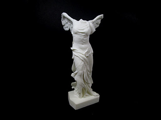 Nike - Winged Victory of Samothrace (c. 190 BC) in White Processed Versatile Plastic