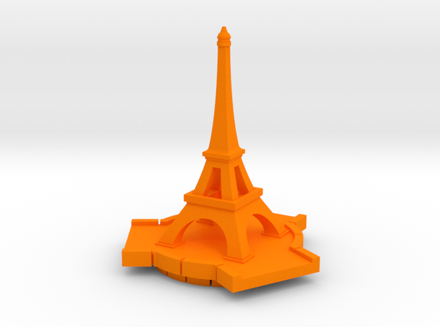 Eiffel Tower in Orange Strong & Flexible Polished