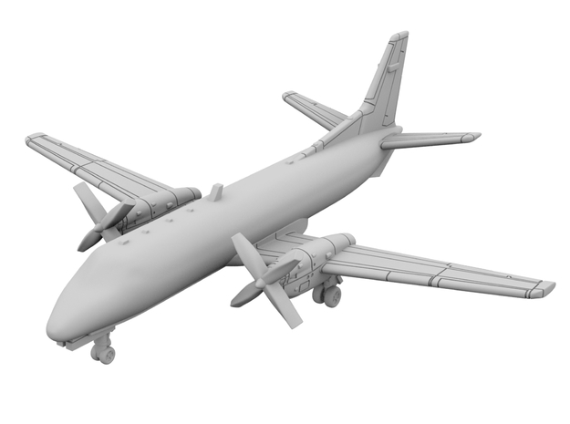 1:500_Saab 340 [x2][A] in Smooth Fine Detail Plastic