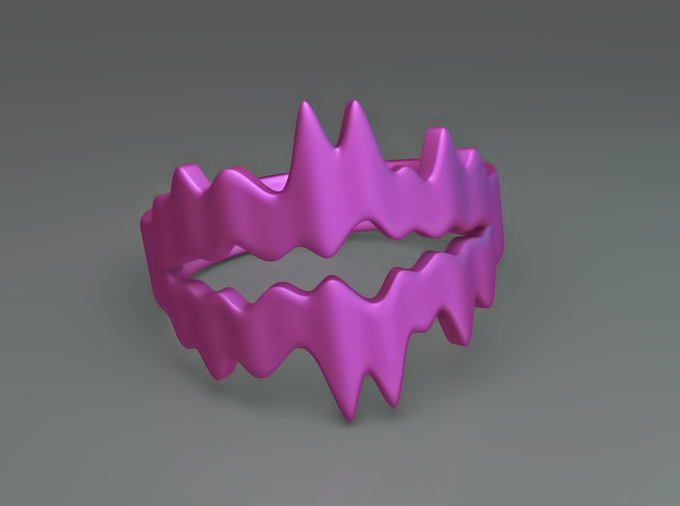 Chasm Ring 3d printed Chasm ring (Purple)