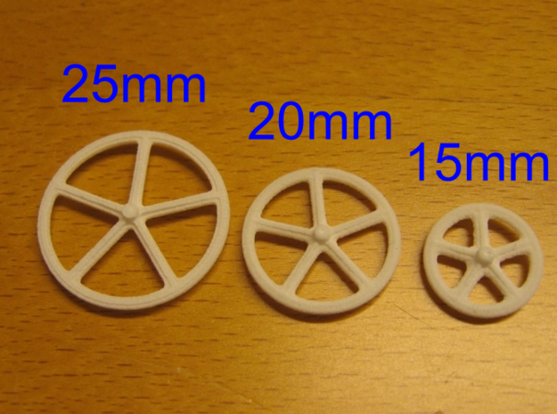 25mm wheels, 8pcs 3d printed Different sizes available